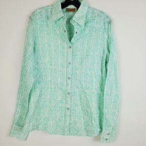 WRANGLER Turquoise Pearl Snap LS Shirt Cowgirl